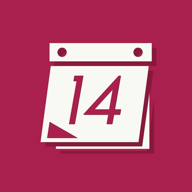 14 febbraio icona di san valentino Vettore gratuito