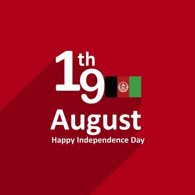19 agosto l'afghanistan independence day Vettore gratuito
