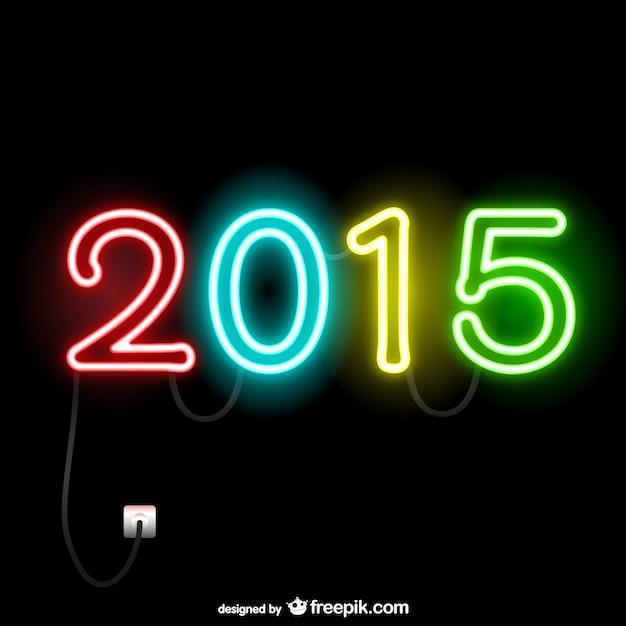 2015 luci al neon  Scaricare vettori gratis