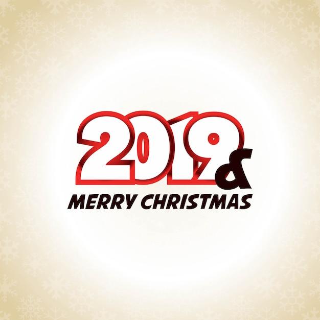 2019 design tipografico del nuovo anno Vettore gratuito