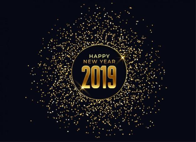 2019 felice anno nuovo sfondo celebrazione Vettore gratuito