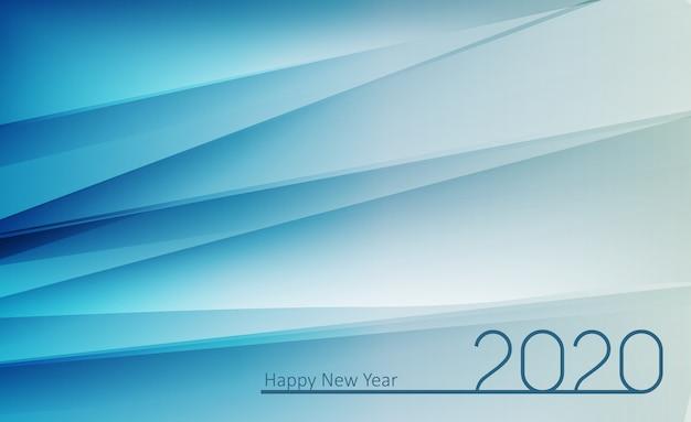 2020 felice anno nuovo sfondo Vettore Premium