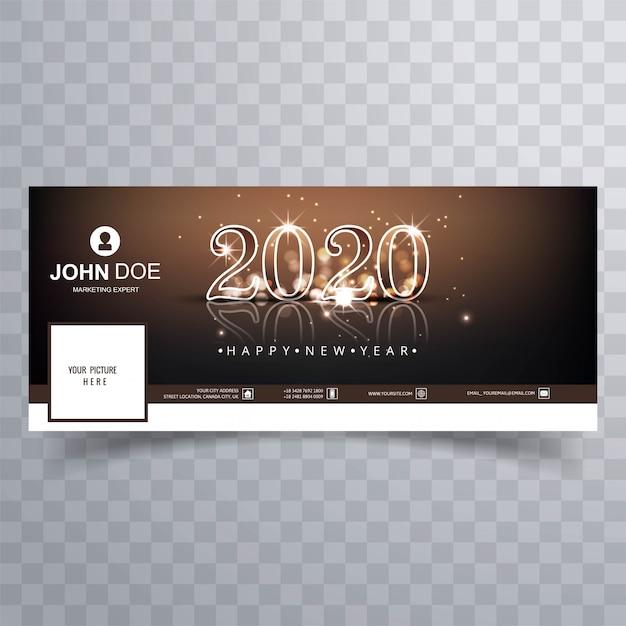 2020 vettore di copertina del nuovo anno Vettore gratuito