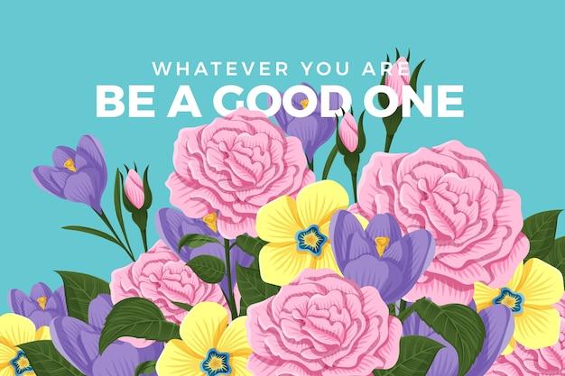 2d tema fiori vintage per carta da parati Vettore gratuito