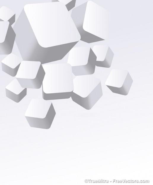 3d bianco scatole vettore Vettore gratuito