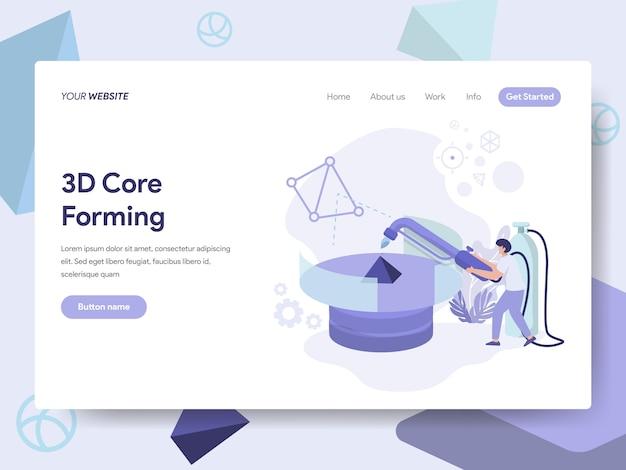 3d core forming illustration Vettore Premium