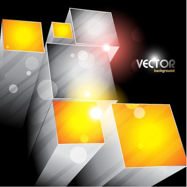 3d cubi che emergono il file vettoriale eps10 Vettore gratuito
