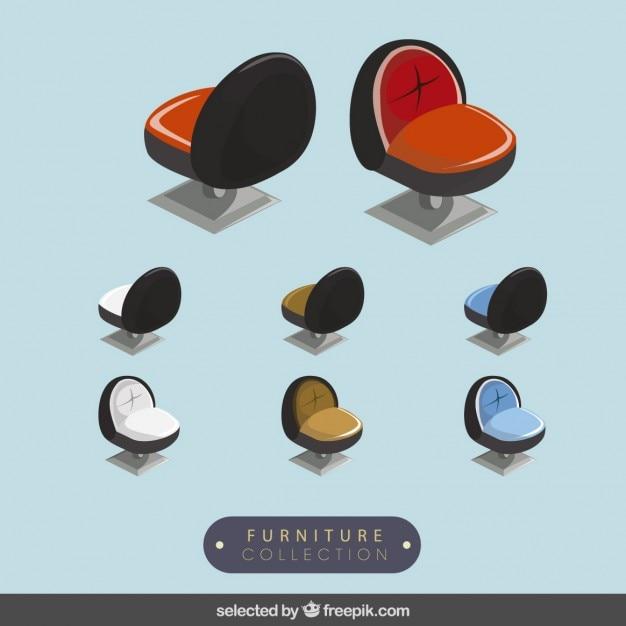 3d raccolta sedie moderne scaricare vettori gratis for Sedie design 3d