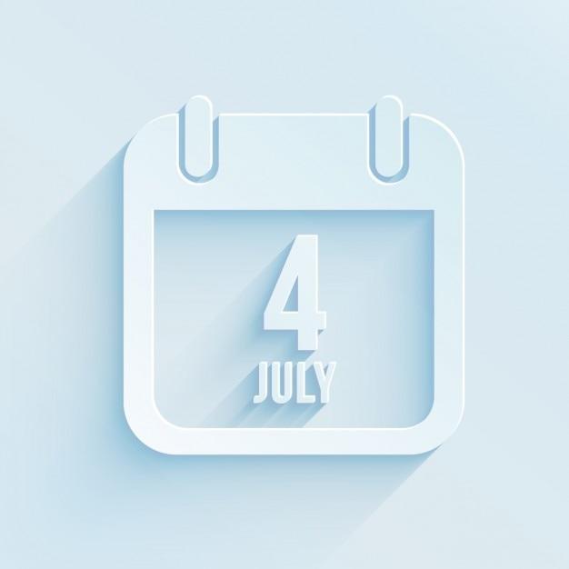 4 di luglio calendar Vettore gratuito