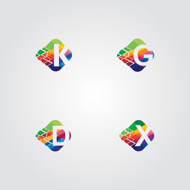 4 insiemi logo pack Vettore gratuito