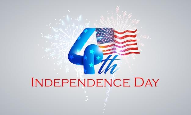 4 luglio - sfondo del giorno dell'indipendenza Vettore Premium