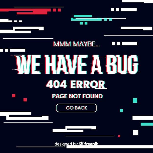 404 errore di sfondo Vettore gratuito