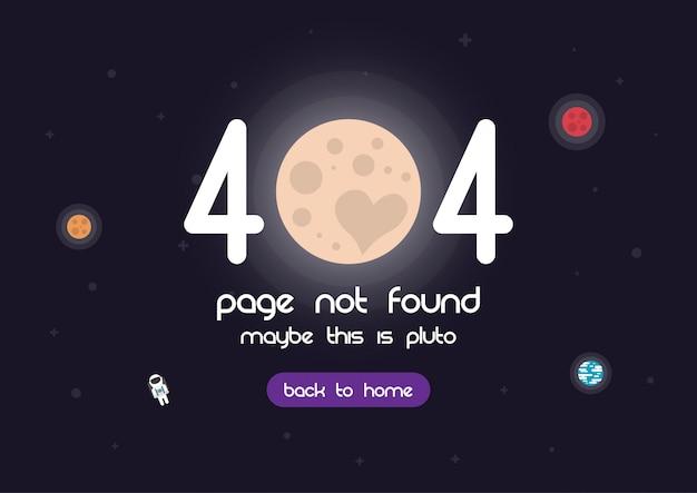 404 pagina di errore Vettore Premium