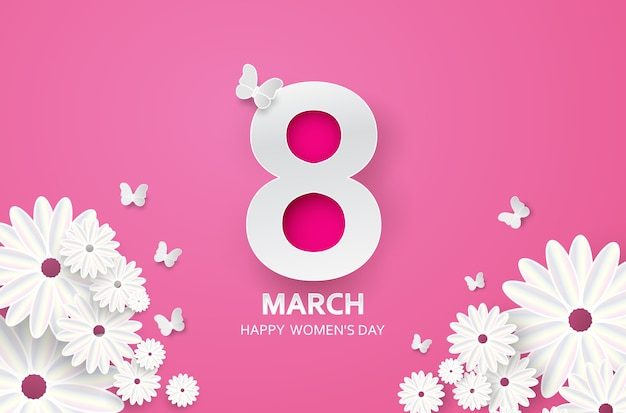 8 marzo buona festa della mamma Vettore Premium