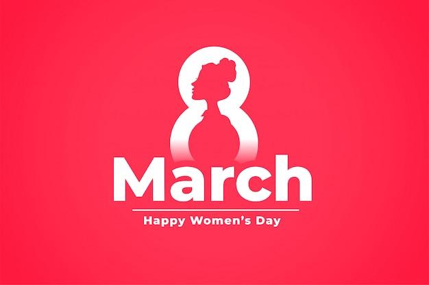 8 marzo celebrazione della giornata internazionale della donna sullo sfondo Vettore gratuito