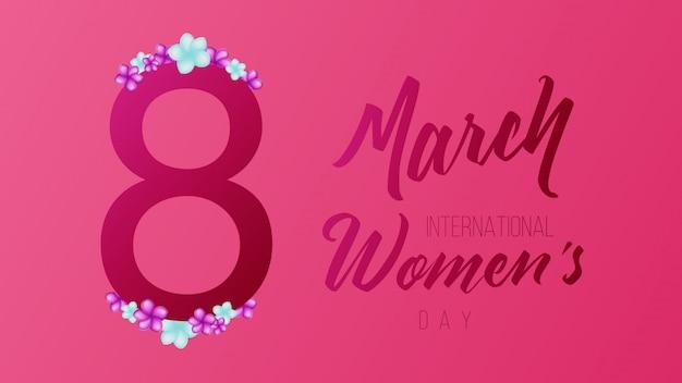 8 marzo sfondo della giornata internazionale della donna Vettore Premium