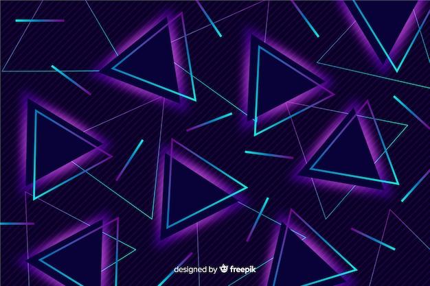 80 design piatto sfondo geometrico Vettore gratuito