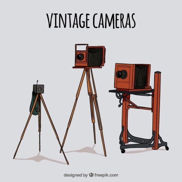 A mano attrezzature foto d'epoca Vettore gratuito