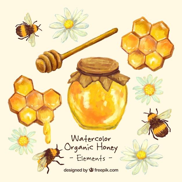 Preferenza A mano barattolo di miele verniciato con nido d'ape | Scaricare  JI93