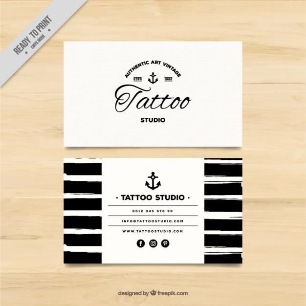 Estremamente A mano biglietto da visita dipinto per un tattoo studio  VC33