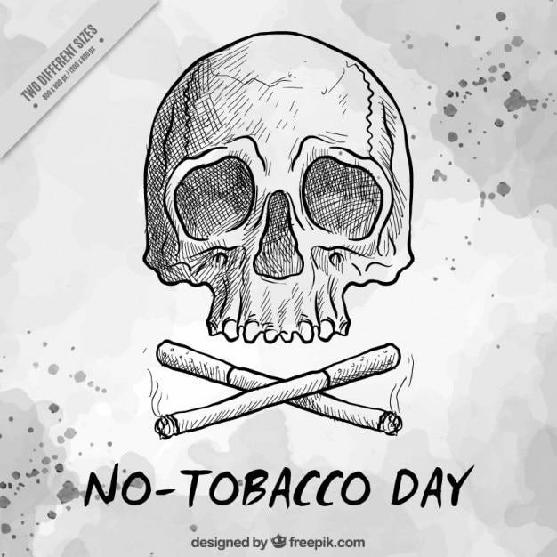 Dibujo De Calavera Fumando En Pipa Para Colorear Dibujos