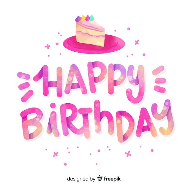 Abbastanza buon compleanno scritte Vettore gratuito