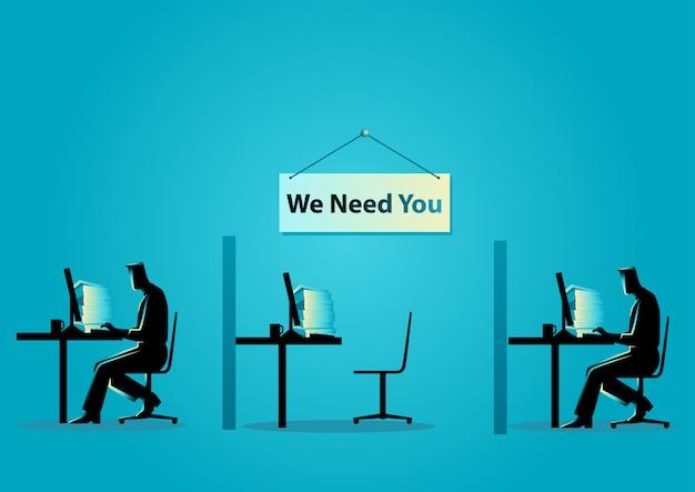 Abbiamo bisogno di te Vettore Premium