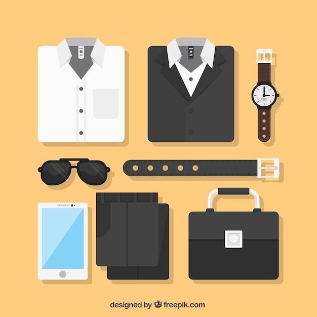 Abbigliamento da uomo elegante Vettore gratuito