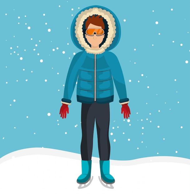 Abbigliamento e accessori moda invernale Vettore gratuito