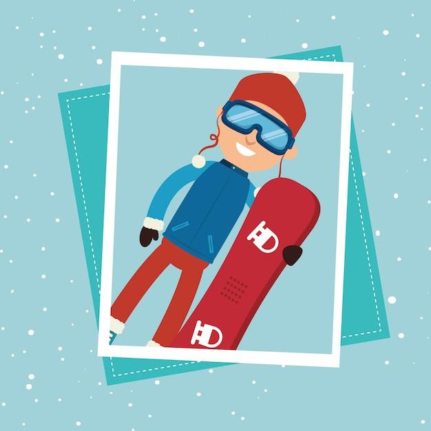 Abbigliamento e accessori per lo sport invernale Vettore gratuito
