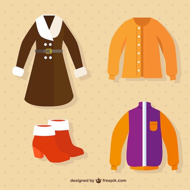 Abbigliamento per la stagione autunnale Vettore gratuito