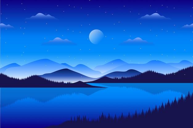 Abetaia di paesaggio con il paesaggio della montagna Vettore Premium
