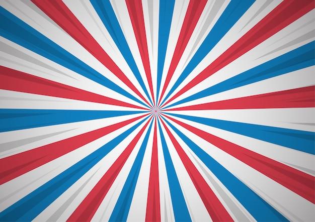 Abstack background che mostra lo stile del fumetto patriottismo. Vettore Premium