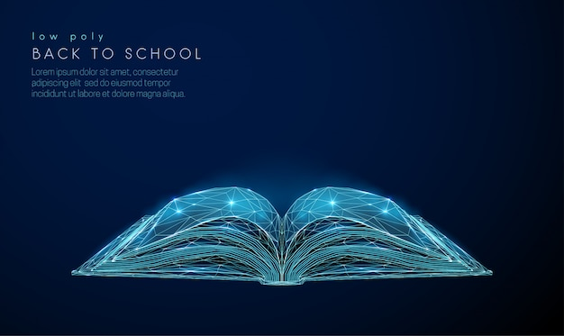 Abstact libro aperto Vettore Premium