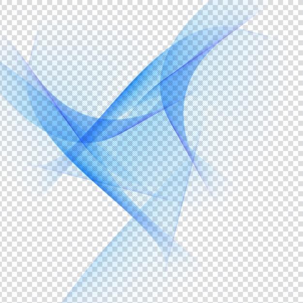 Abstarct Design Ondulato Blu Su Sfondo Trasparente Scaricare