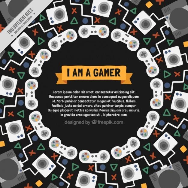 Abstract background di videogame in design piatto Vettore gratuito
