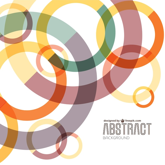 Abstract cerchi colorati sfondo Vettore gratuito