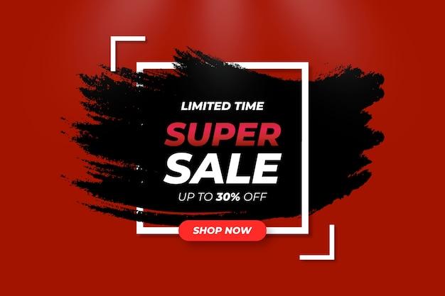 Abstract dark super-sale background Vettore gratuito