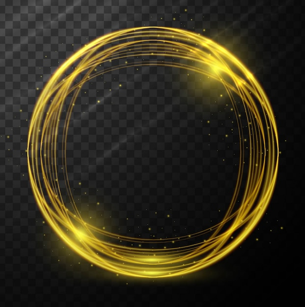 Abstract glowing circle background Vettore gratuito
