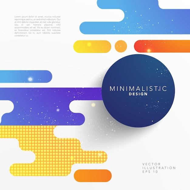 Abstract shape cover design Vettore gratuito