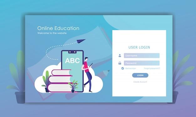 Accedi al design della pagina Vettore Premium
