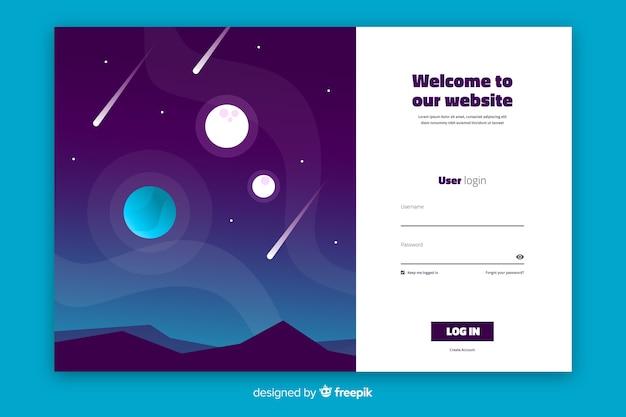 Accedi pagina di destinazione di astrologia Vettore gratuito