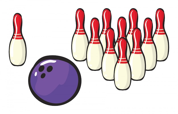 Accessori per il bowling Vettore gratuito