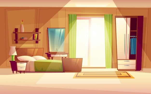 Accogliente camera da letto moderna soggiorno con letto for Libreria in camera da letto
