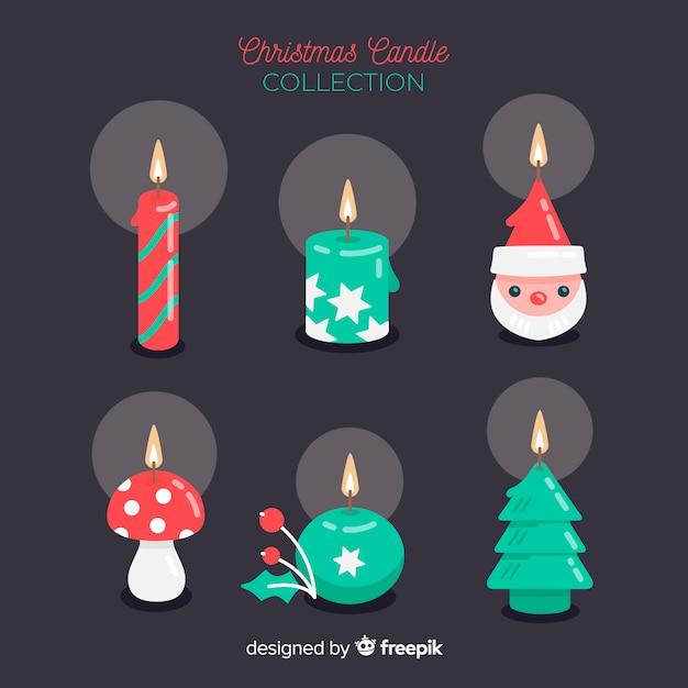 Il Colore Delle Candele.Accumulazione Delle Candele Di Natale Di Forme Differenti
