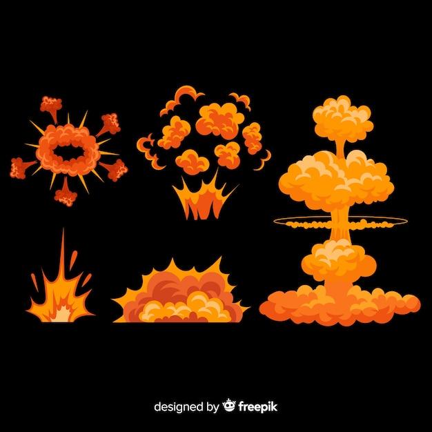 Accumulazione di effetto esplosione del fumetto disegnato a mano Vettore gratuito