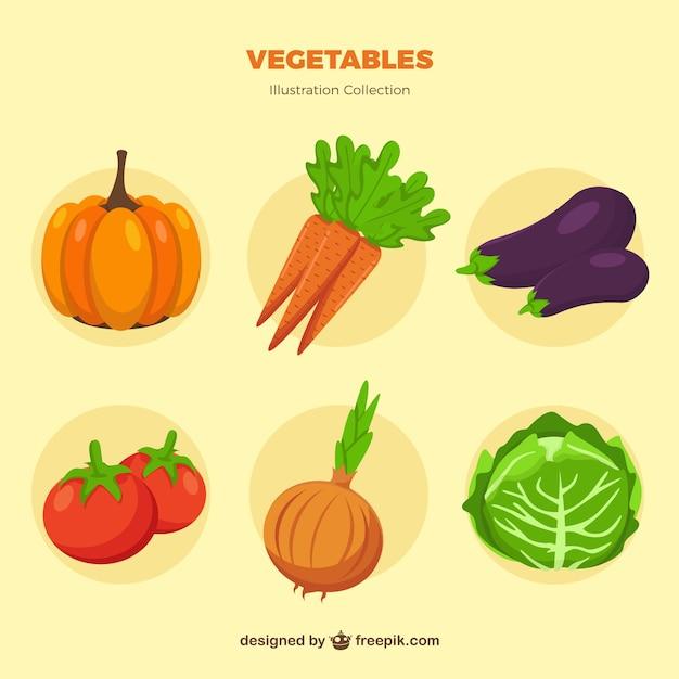 Accumulazione di verdure Vettore gratuito