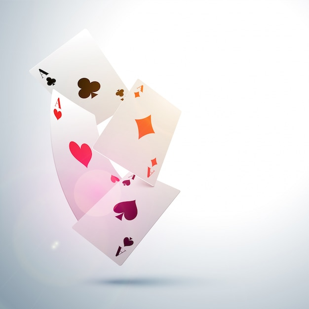 Ace playing card sfondo, concetto di casino. Vettore gratuito