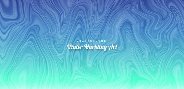 Acqua astratto marmorizzazione art background Vettore Premium