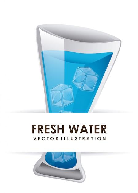 Acqua grafica illustrazione vettoriale Vettore gratuito